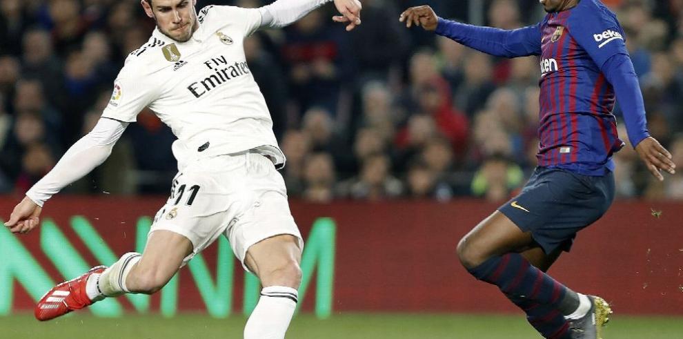 Marcador reñido entre el Real Madrid y el Barcelona