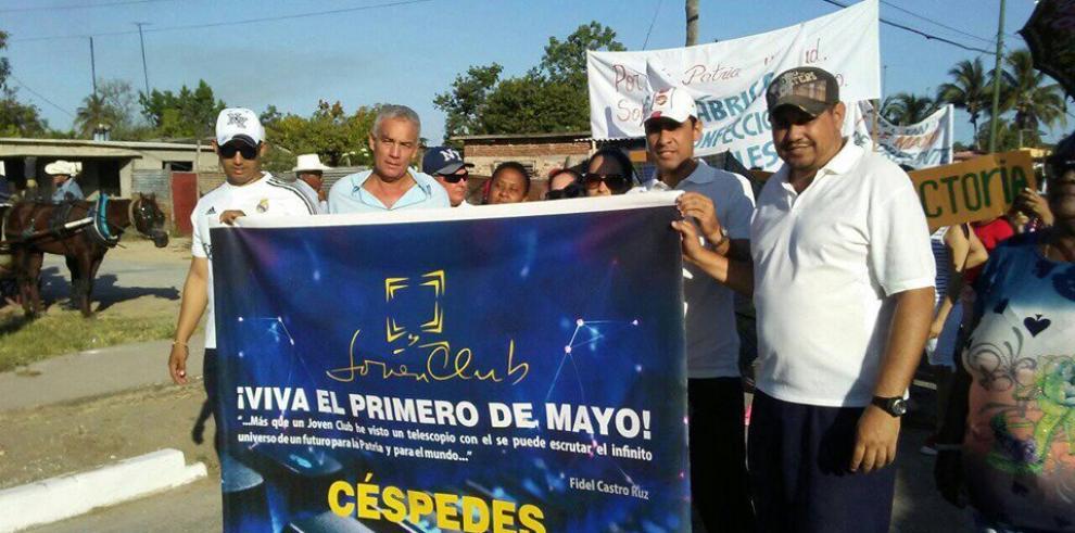 Cuba desfila por el 1º de Mayo bajo el liderazgo de Raúl Castro y Díaz-Canel