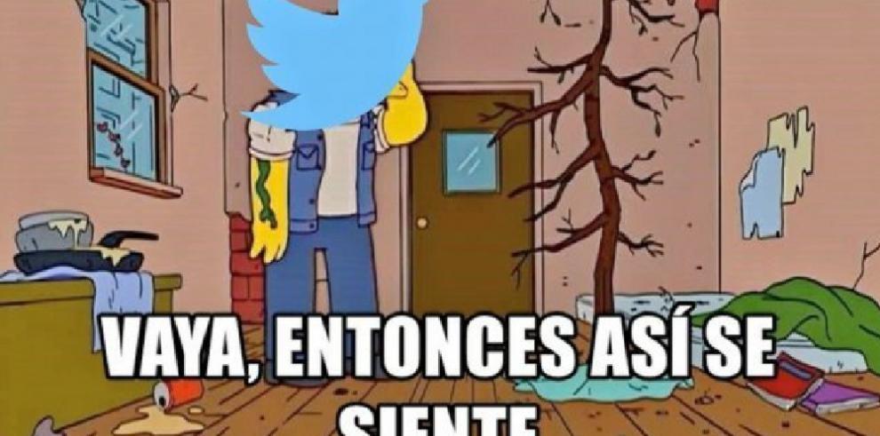 Algunas de las reacciones en redes ante la caída de Twitter