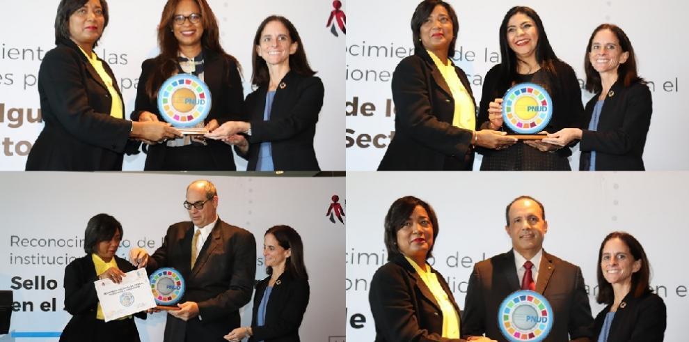 Cuatro instituciones públicas obtienen el Sello de Igualdad de Género del PNUD