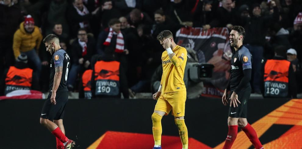 El Sevilla, eliminado en el último minuto de la prórroga
