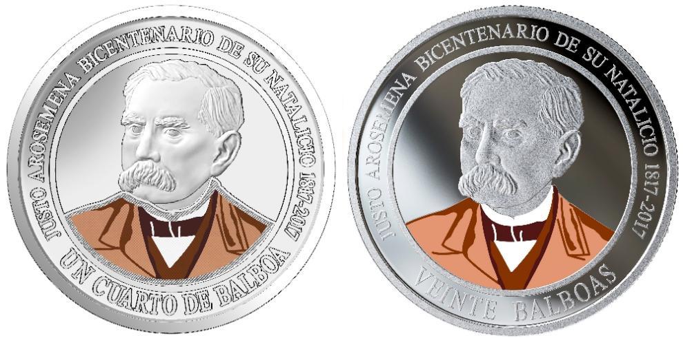 Monedas por bicentenario del Dr. Justo Arosemena circularán el 15 de mayo