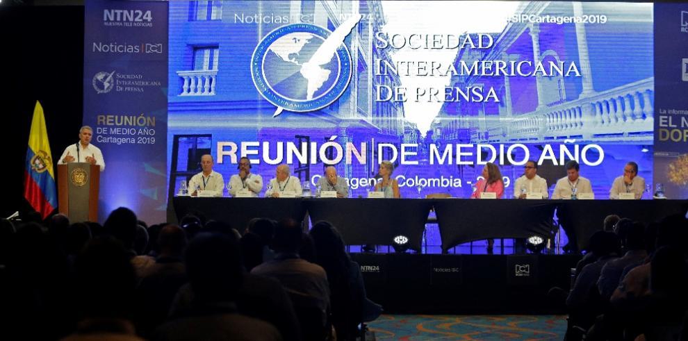 El SIP discute en Colombia lalibertad de prensa en Cuba, Nicaragua y Venezuela