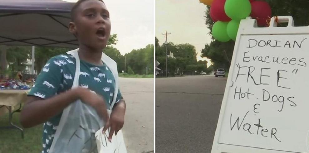 Niño que usó sus ahorros para ayudar a evacuados por Dorian recibe sorpresa