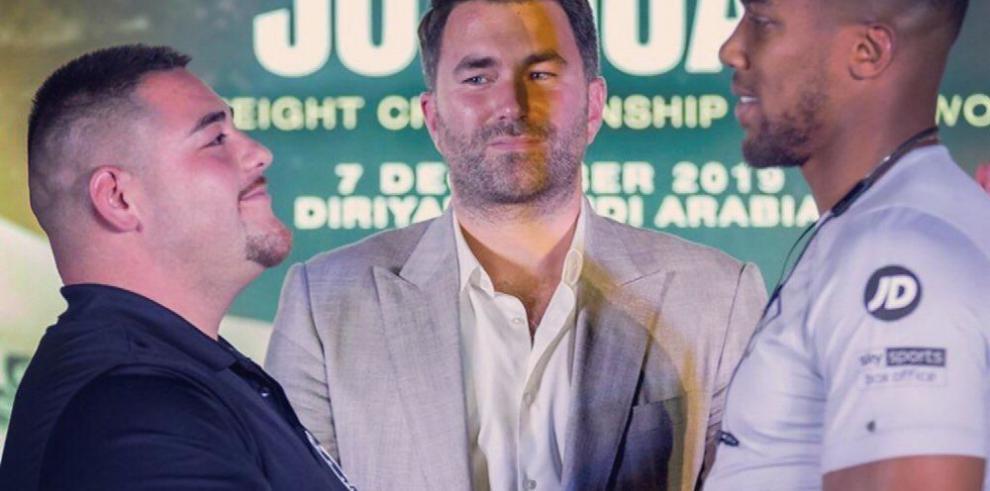 Ruiz Jr y Joshua inician gira promocional para su pelea de revancha