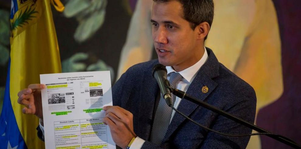 Guaidó admite que sabía del diálogo entre EEUU y el Gobierno venezolano