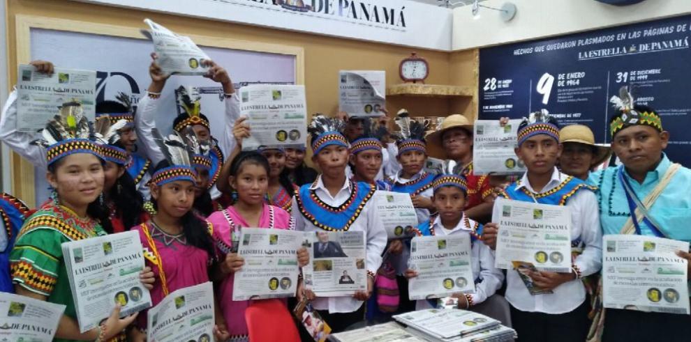 Niños ngäbe buglé danzan para reafirmar el acervo cultural
