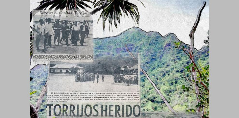 Omar Torrijos, herido por los rebeldes en la Serranía de Tute