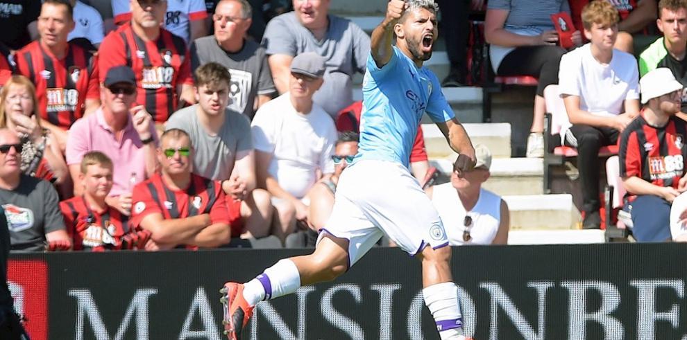 Agüero fulmina al Bournemouth en el partido 400 de David Silva