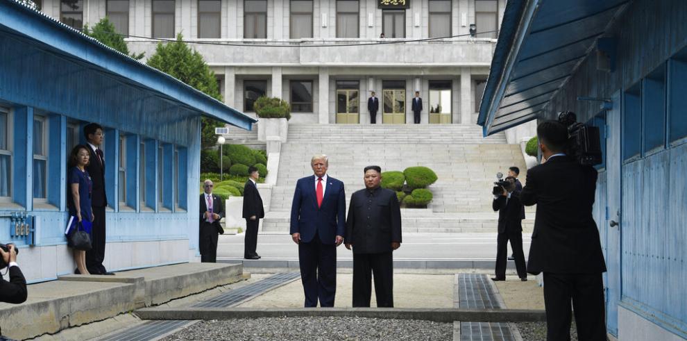 Trump y Kim jong Un 2019