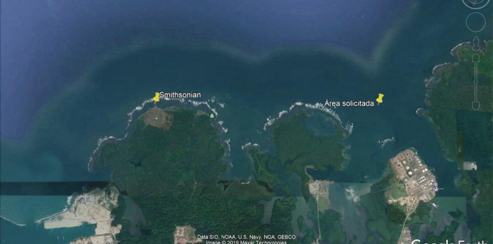 La concesión está basada en los derechos de uso de mar en el llamado Canal de Bahía Las Minas.