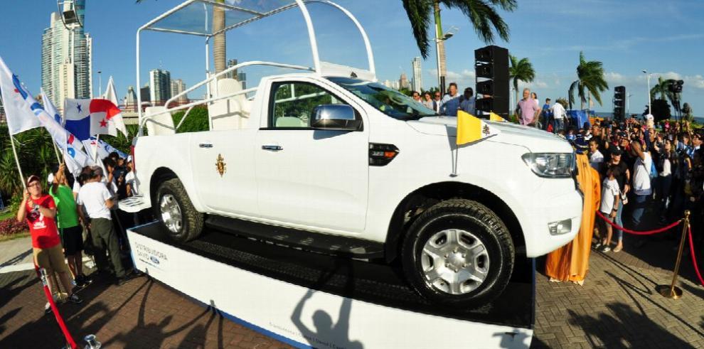El papamóvil panameño está valorado $80 mil