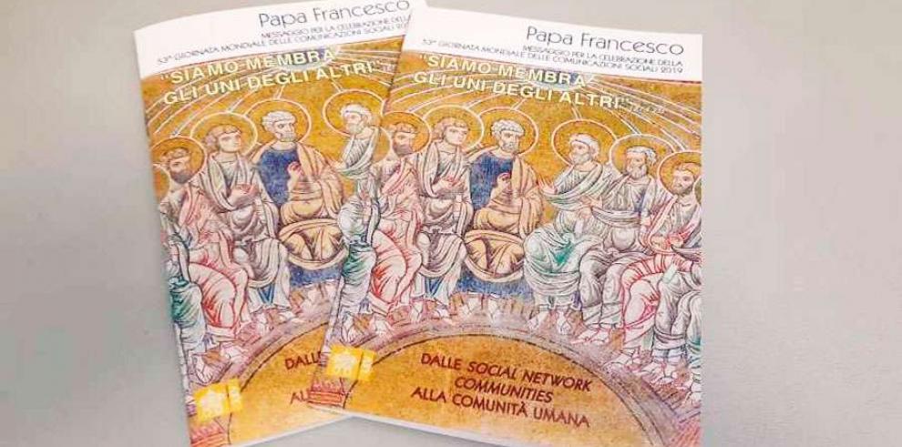 Mensaje del Papa con motivo de la Jornada Mundial de las Comunicaciones Sociales