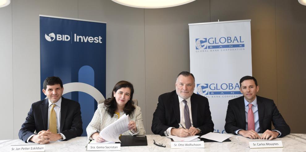 Global Bank recibe $60 millones del BID Invest para financiar pyme de mujeres