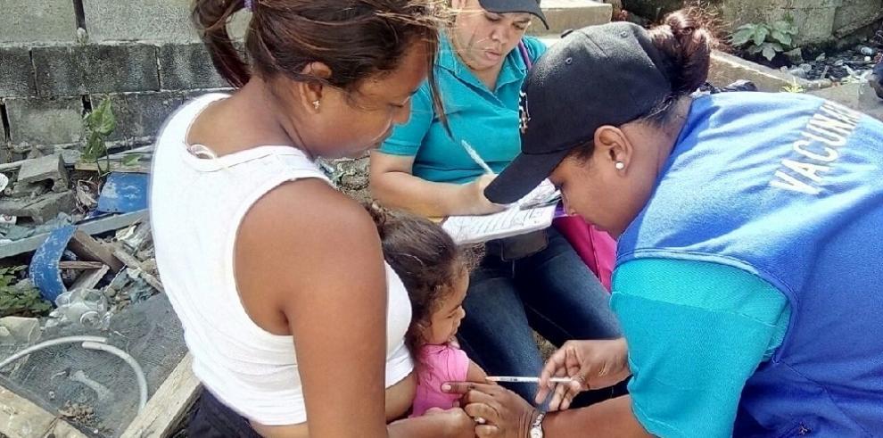 Continúa jornada de vacunación contra el sarampión en San Miguelito