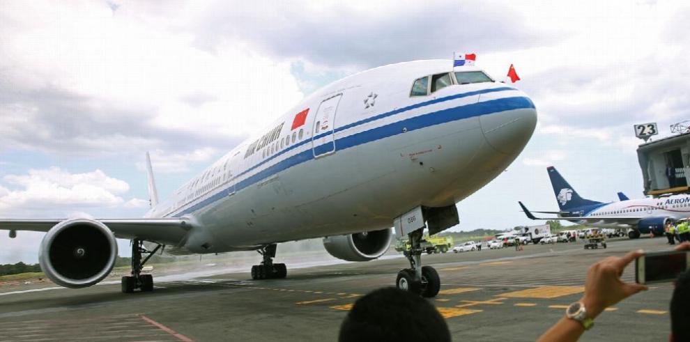 Aterriza en Panamá el primer vuelo de Air China