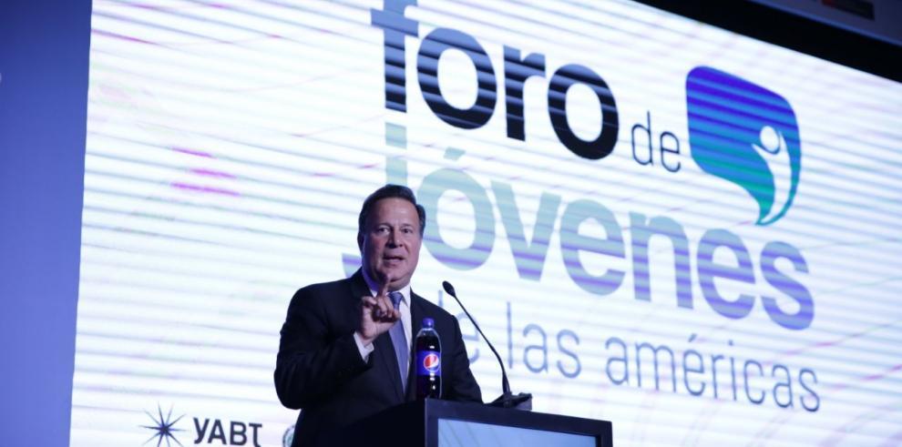 Varela llama a jóvenes de América a ser líderes para construir un mejor futuro