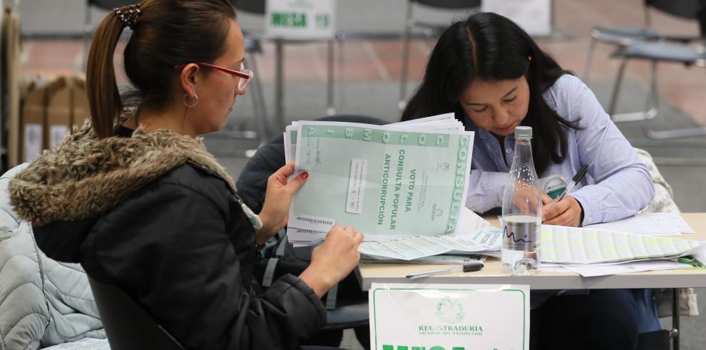 La consulta anticorrupción en Colombia no supera el umbral de voto necesario