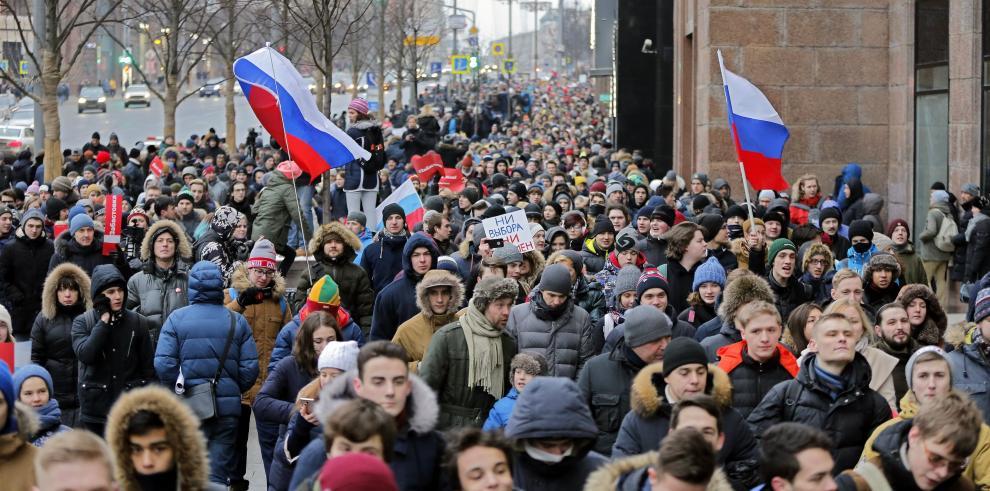 Miles de personas en toda Rusia llaman a boicotear las elecciones de marzo