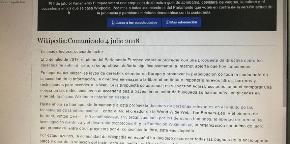 'Lo publicado en Internet no debe ser gratis'