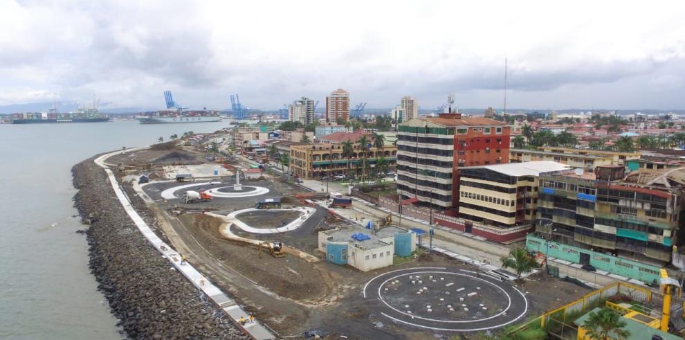 Un 50% de avance lleva la extensión del Paseo Marino en Colón