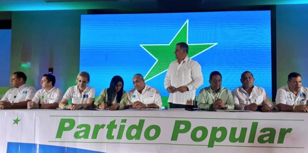 Un 59% de Congreso Nacional del PP avala seguir alianza con el panameñismo