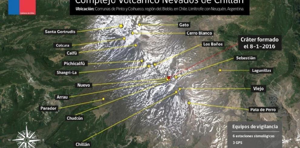 Alerta en Chile ante posible actividad complejo volcánico Nevados de Chillán
