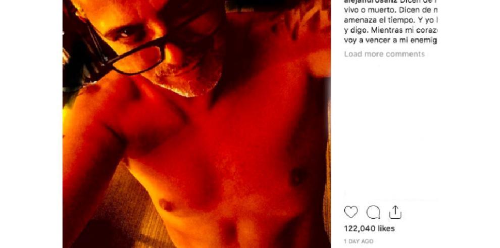 Alejandro Sanz se anima a posar sin camiseta tras iniciar una dieta detox