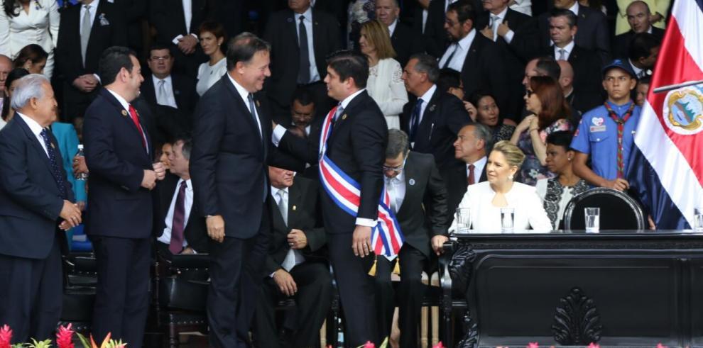 Presidente Varela participa en investidura de mandatario costarricense