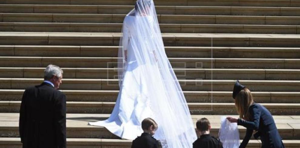 Meghan Markle opta por Givenchy para su vestido de novia