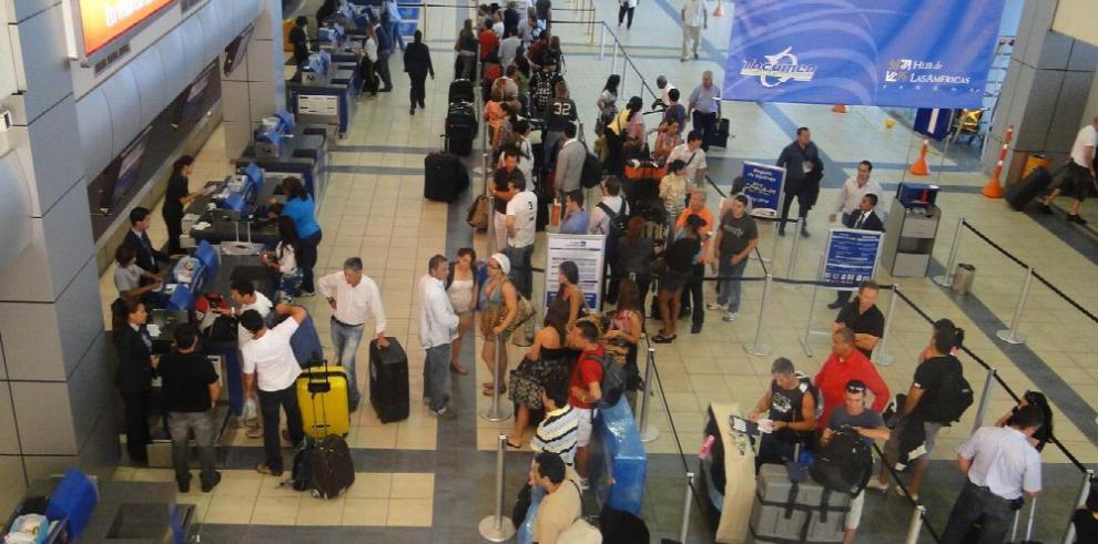 Disminuye la entrada de pasajeros por Tocumen en 2017