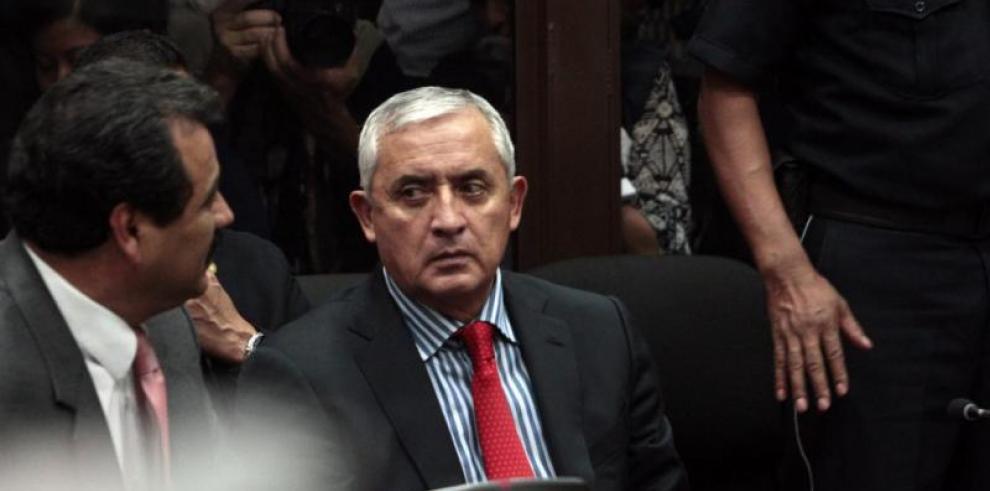 El expresidente Pérez Molina se encuentra en