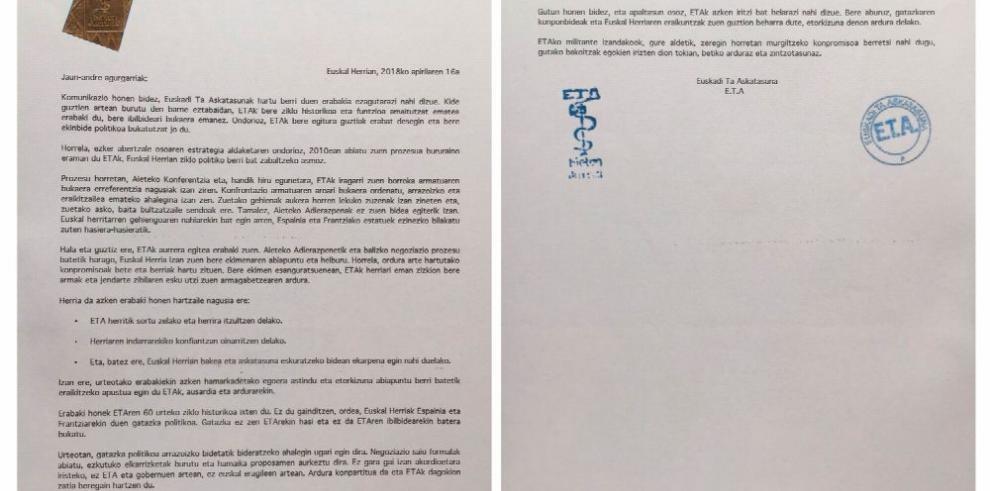 España: ETA anuncia su disolución