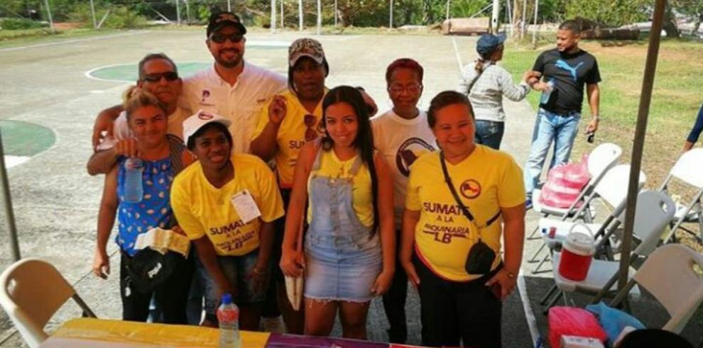 Panameñistas cierran jornada de inscripción