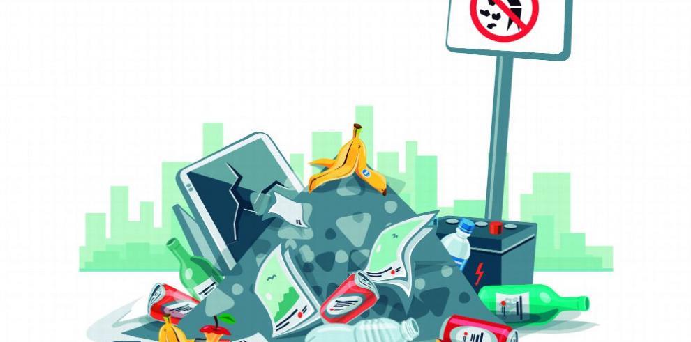 La basura que se ahoga en una entidad urbana