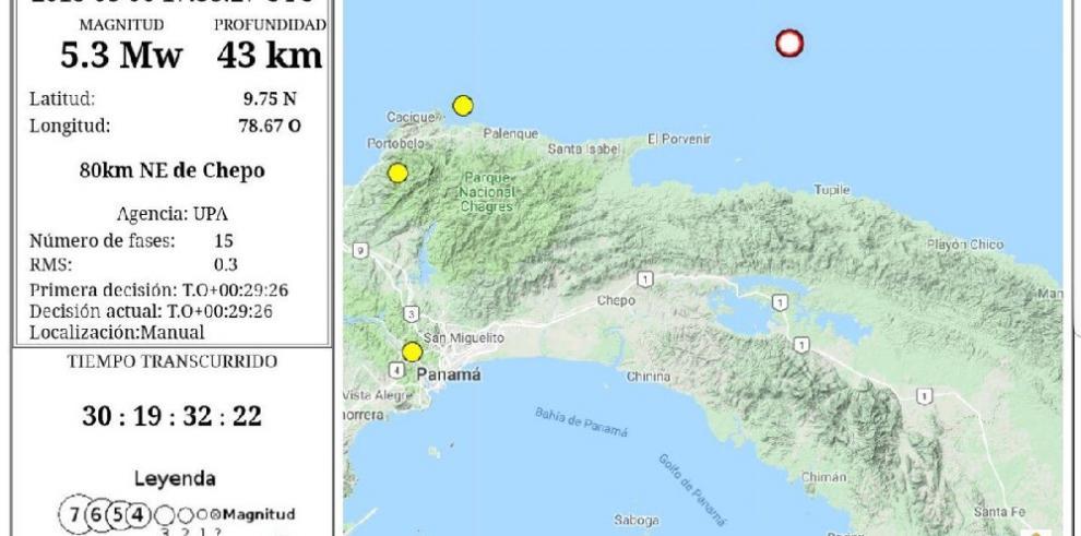 Se registra movimiento sísmico en Ciudad de Panamá