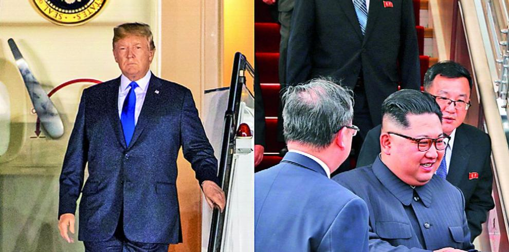 Todo preparado para la histórica reunión entre Kim y Trump