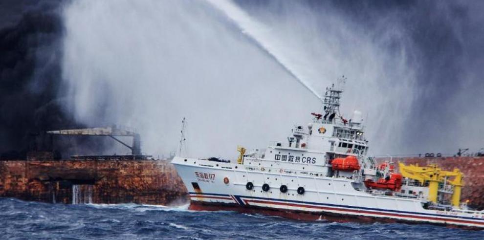 China dice que manchas de crudo del Sanchi se han reducido a 30 km cuadrados