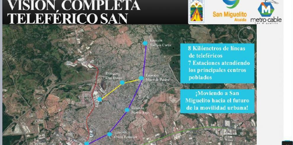 Publican pliego de precalificación para el metro cable de San Miguelito