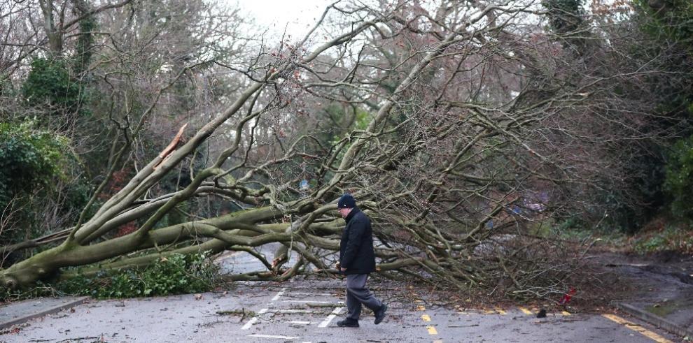 Miles de viviendas sin electricidad en Reino Unido por la tormenta Eleanor