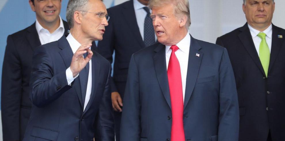 Trump fustiga a sus socios de la OTAN y pide más gasto militar