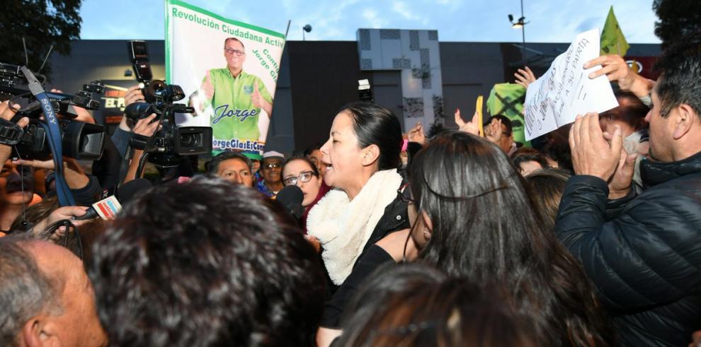 Simpatizantes de Glas piden la libertad del exvicepresidente preso