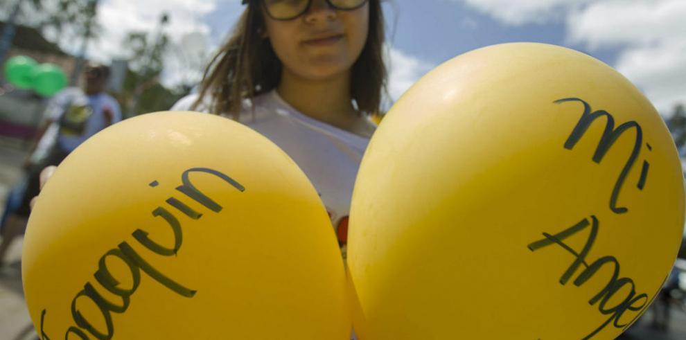 Nicaragua realiza 'Marcha de los Globos' por la lucha contra cáncer infantil