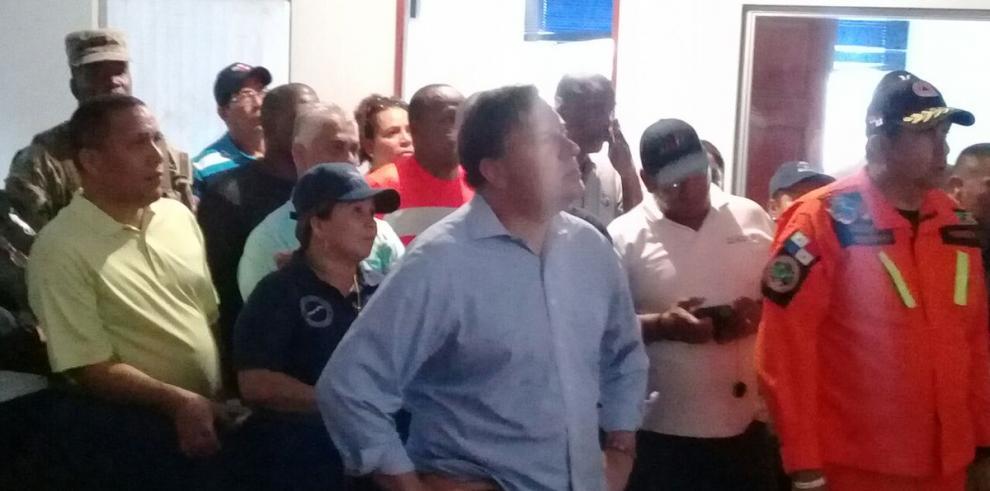 Presidente Varela recorre áreas afectadas en Colón