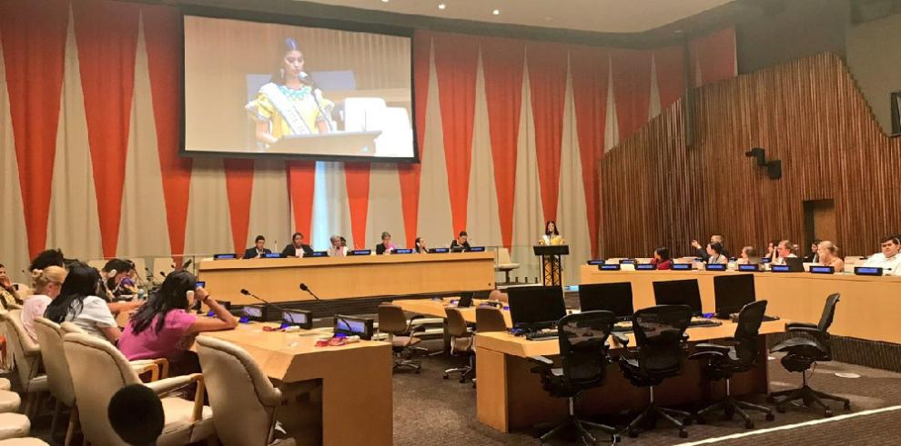 Rosa Iveth Montezuma dijo ante la ONU estar orgullosa de su origen
