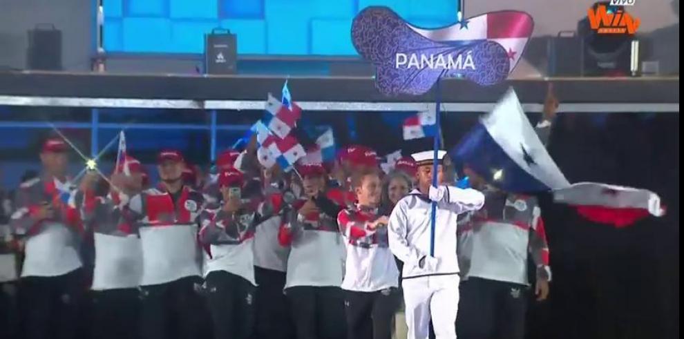 Delegación panameña en la inauguración de los JCC en Barranquilla