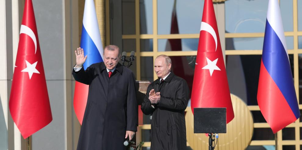 Erdogan y Putin inauguran las obras para la primera planta nuclear de Turquía