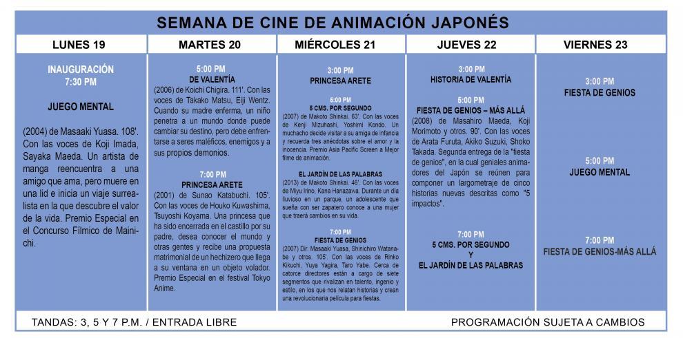 Muestra de cine de animación japonés se expone en Panamá