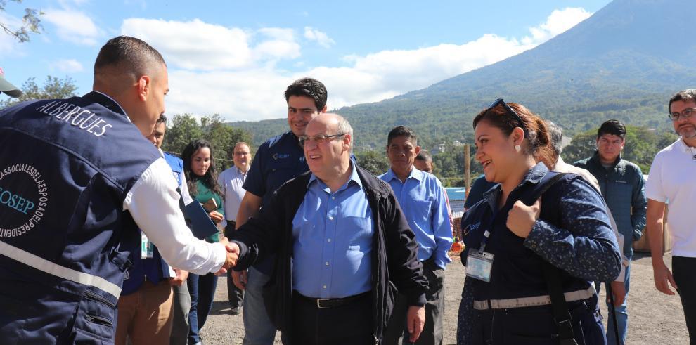 OIM mejora la seguridad de las poblaciones afectadas por el volcán de Fuego