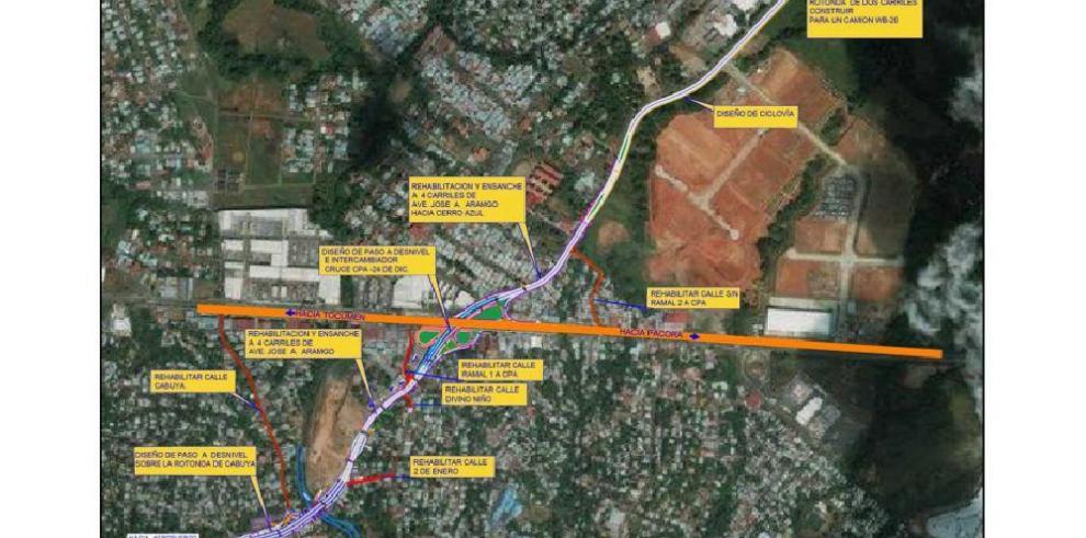MOP publica pliego para construcción de intercambiador en Cabuya